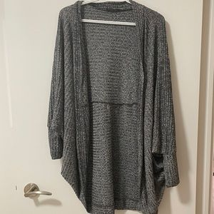 SHEIN Black and White Knit Batwing Sweater